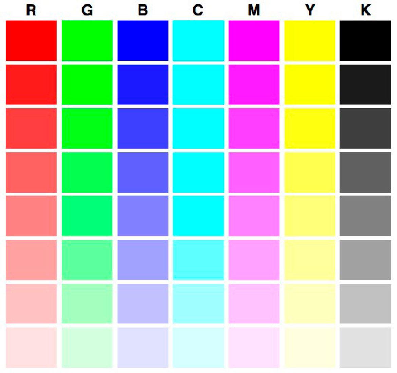Рисунок для проверки цветного принтера, 1812 картинки боя